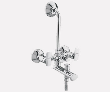 3 in	1 Wall Mixer Telephonic with Bend with inbuilt 20mm Check Valve