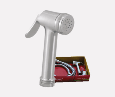 Health Faucet Medium Complete Set with Shower Tube (1 mtr) & ABS Hook