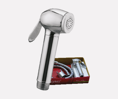 Health Faucet Dolphin Complete Set with Shower Tube (1 mtr) & ABS Hook
