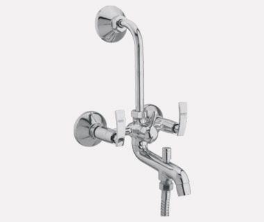 3 in 1 Wall Mixer Telephonic with Bend